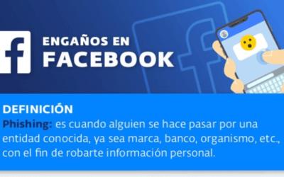 Infografía sobre Phishing a través de Facebook